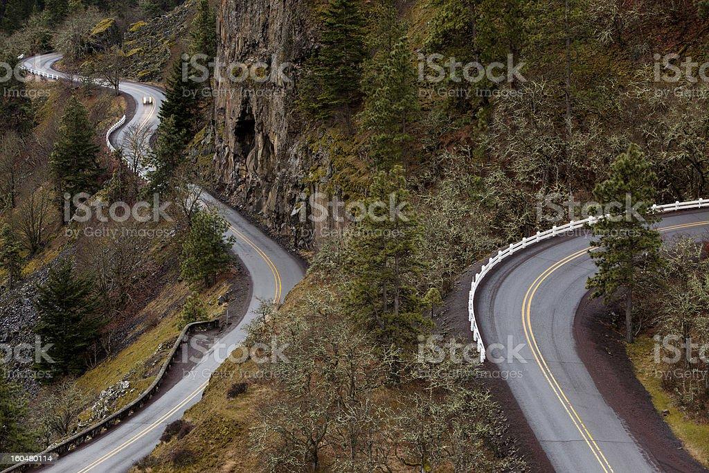 Rowena Crest Road in Columbia River Gorge Oregon stock photo