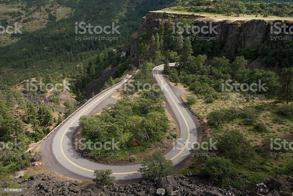 Rowena Loops, Oregon, USA royalty-free stock photo