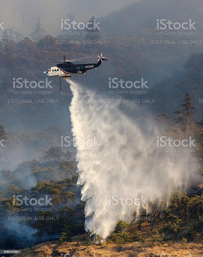 Rowena Wildfire Oregon. stock photo
