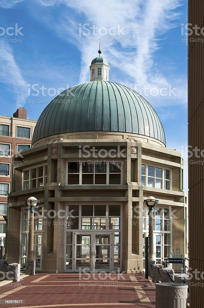 Rowes Wharf Dome Detail royalty-free stock photo