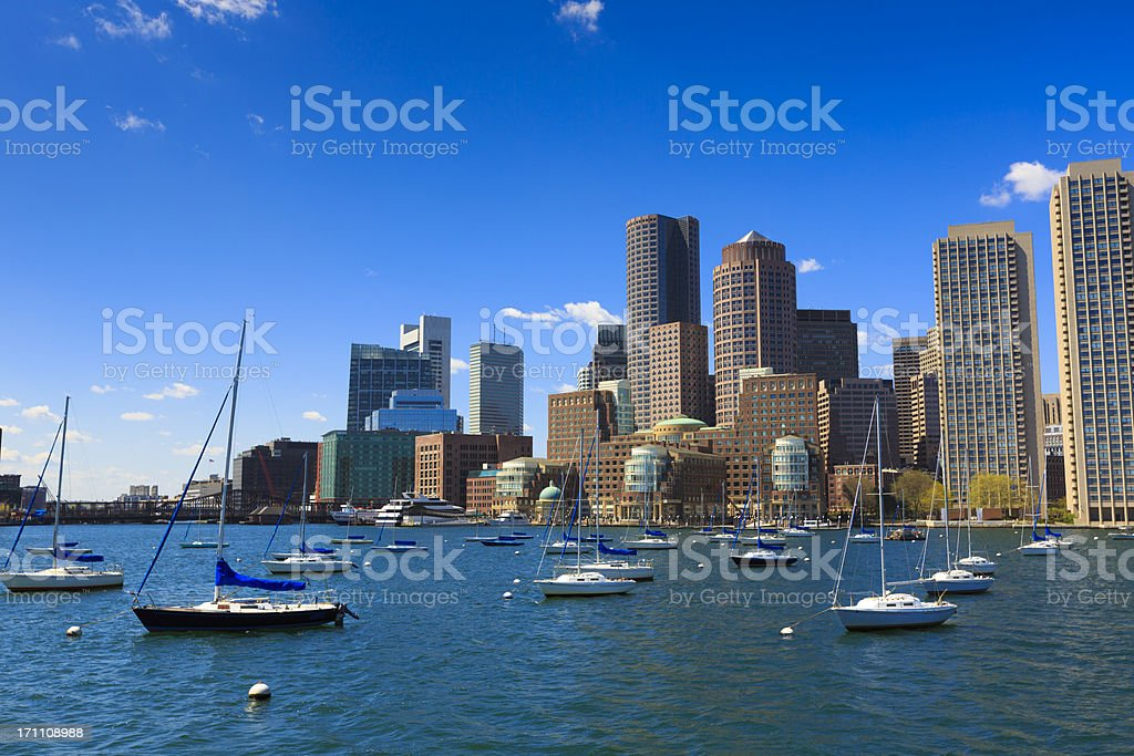 Rowe's wharf marina in Boston royalty-free stock photo