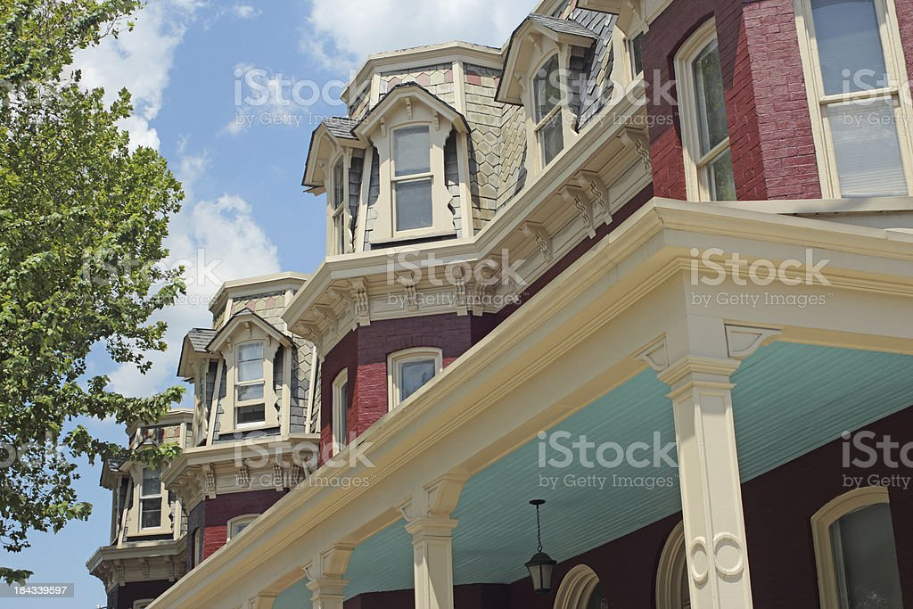 Rowhouse in Lancaster, PA stock photo