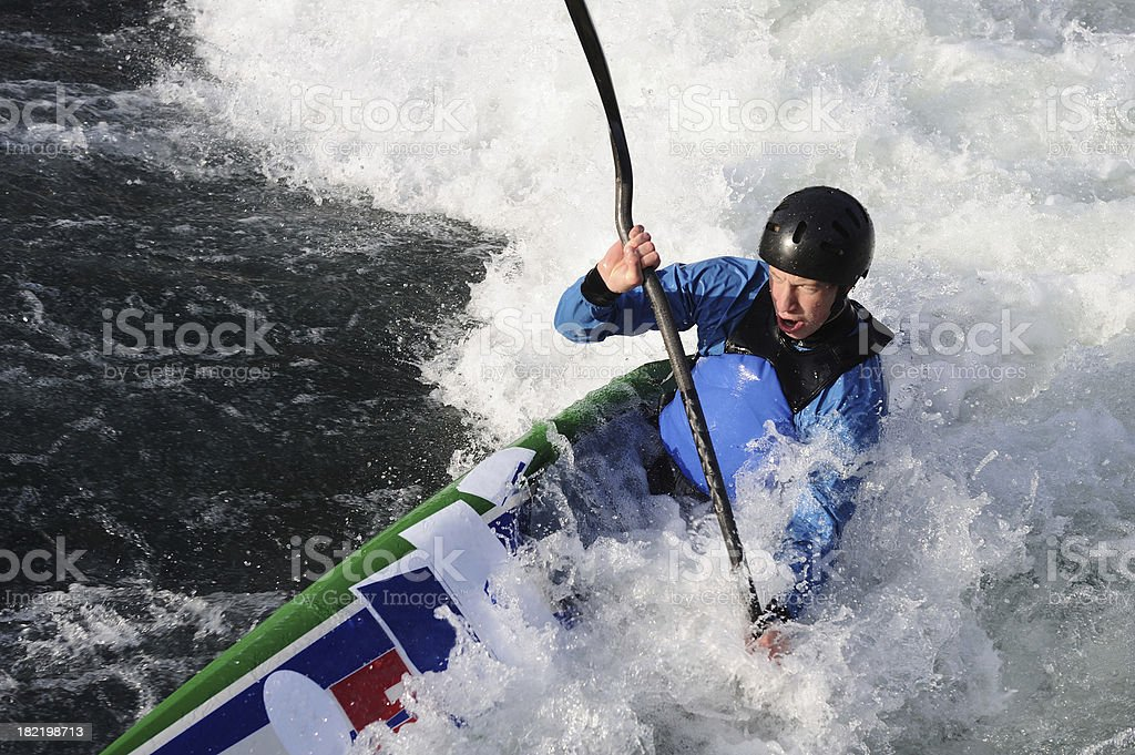 Rowing against the river royalty-free stock photo