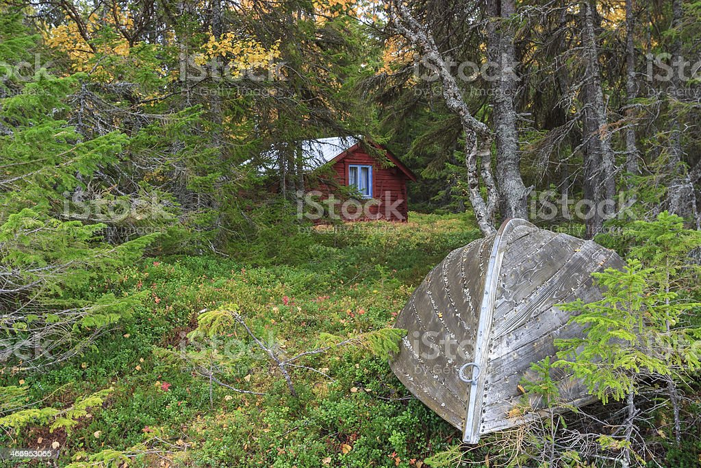 Rowing boat on land royalty-free stock photo