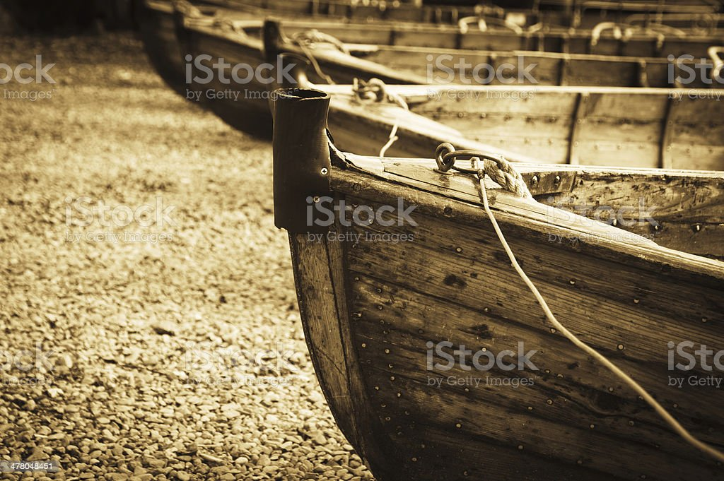 Rowing Boats at Ambleside royalty-free stock photo