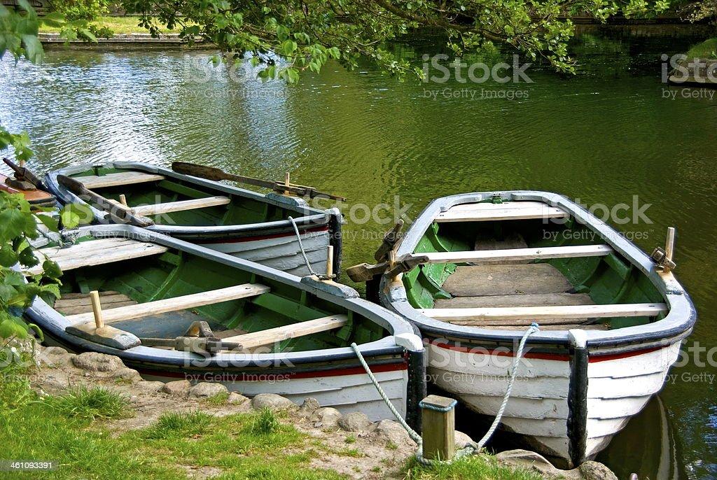 Rowing boats stock photo