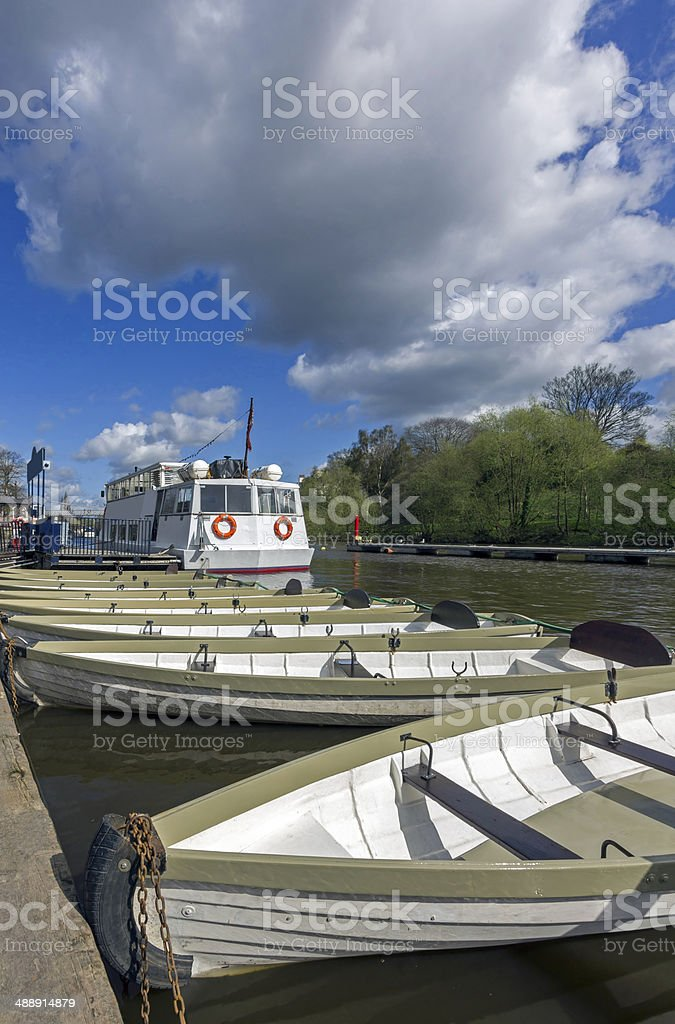 Rowing Boats River Dee Chester royalty-free stock photo