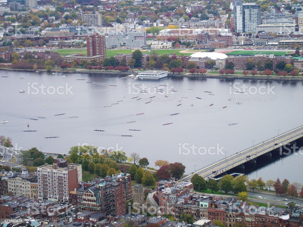 rowing competition charles river royalty-free stock photo