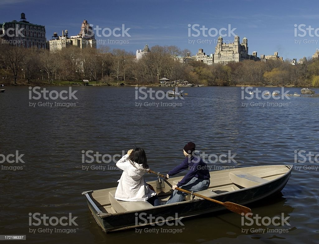 Rowing in Central Park royalty-free stock photo