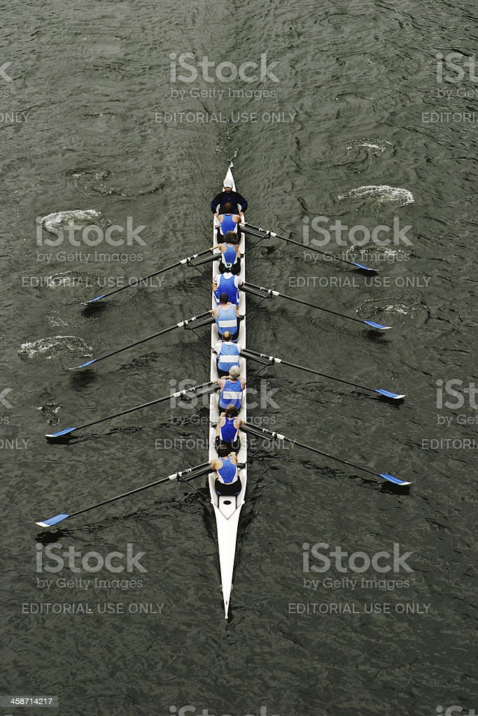 Rowing In Crew Races royalty-free stock photo
