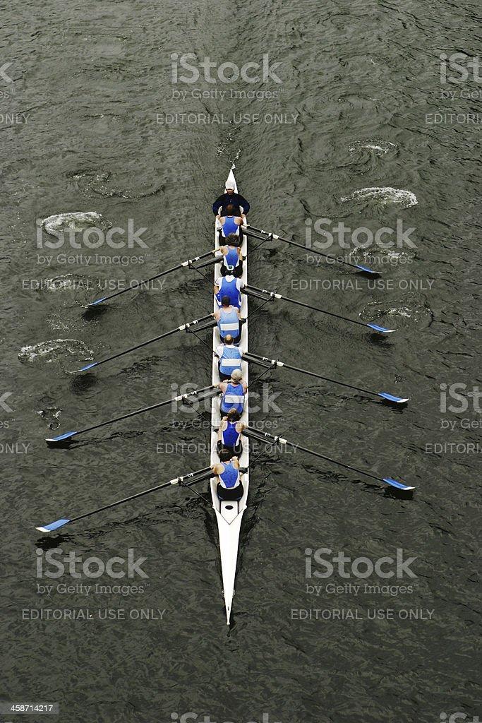 Rowing In Crew Races stock photo