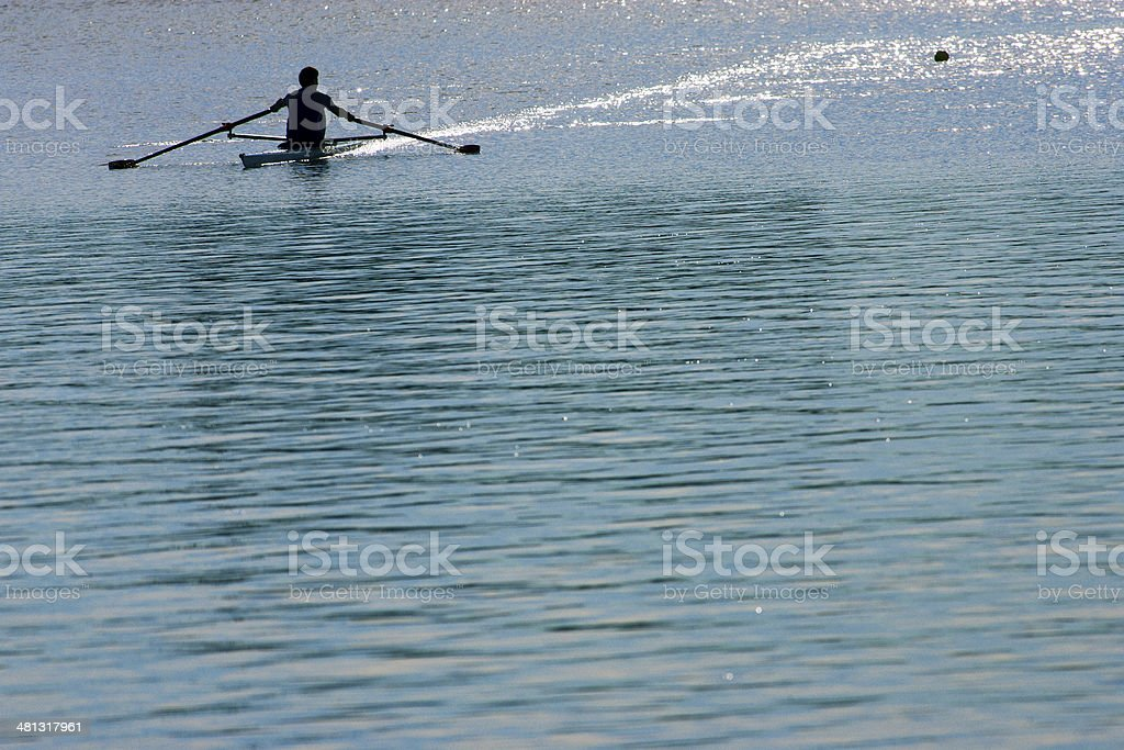 Rowing in the Morning royalty-free stock photo