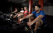 Rowing machines minimize back strain and maximize tone
