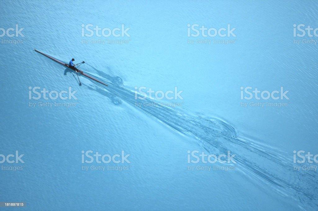 Rowing on Lake Louise stock photo