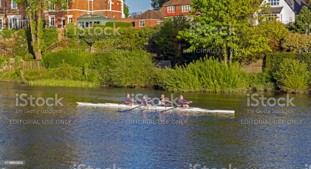 Rowing On The River Dee Chester stock photo
