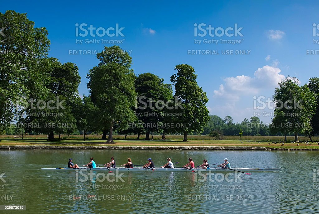 Rowing on the River Thames,Oxford stock photo