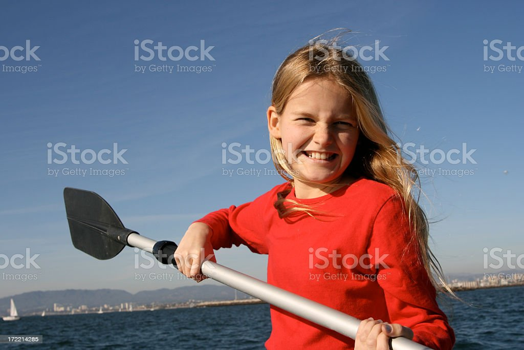 Rowing Over The Open Sea stock photo