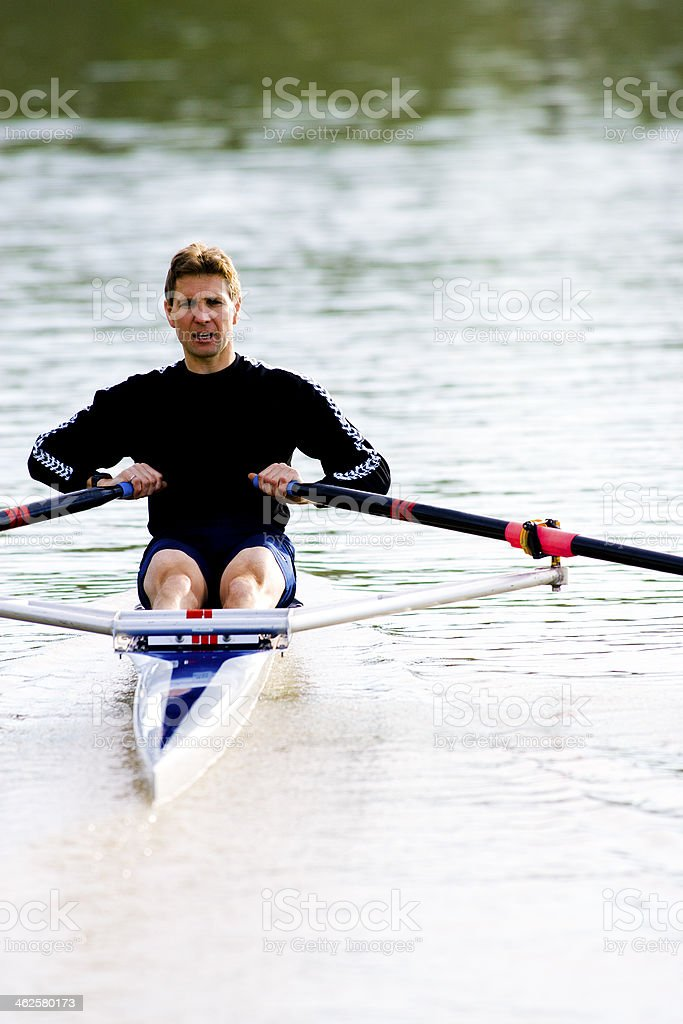 Rowing royalty-free stock photo
