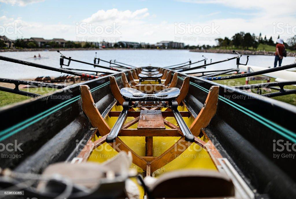Rowing Quad stock photo