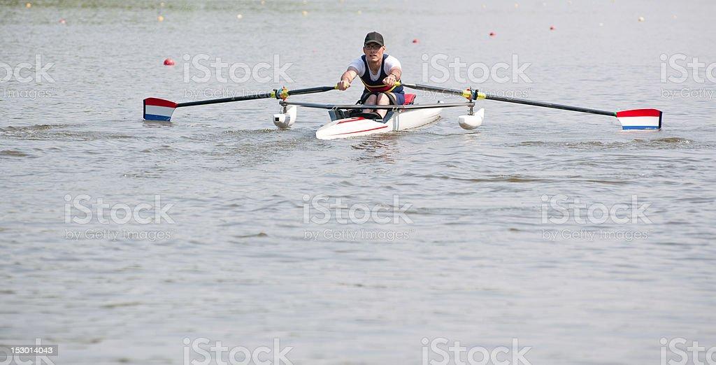 Rowing stroke royalty-free stock photo