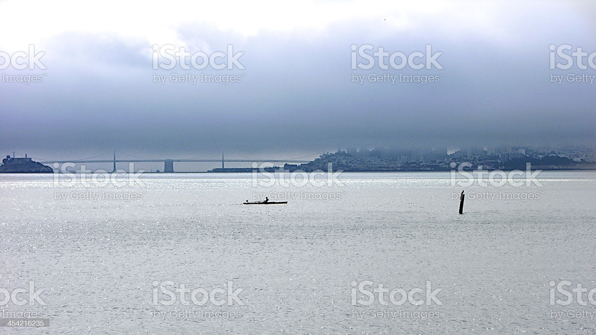 Rowing the Distance royalty-free stock photo