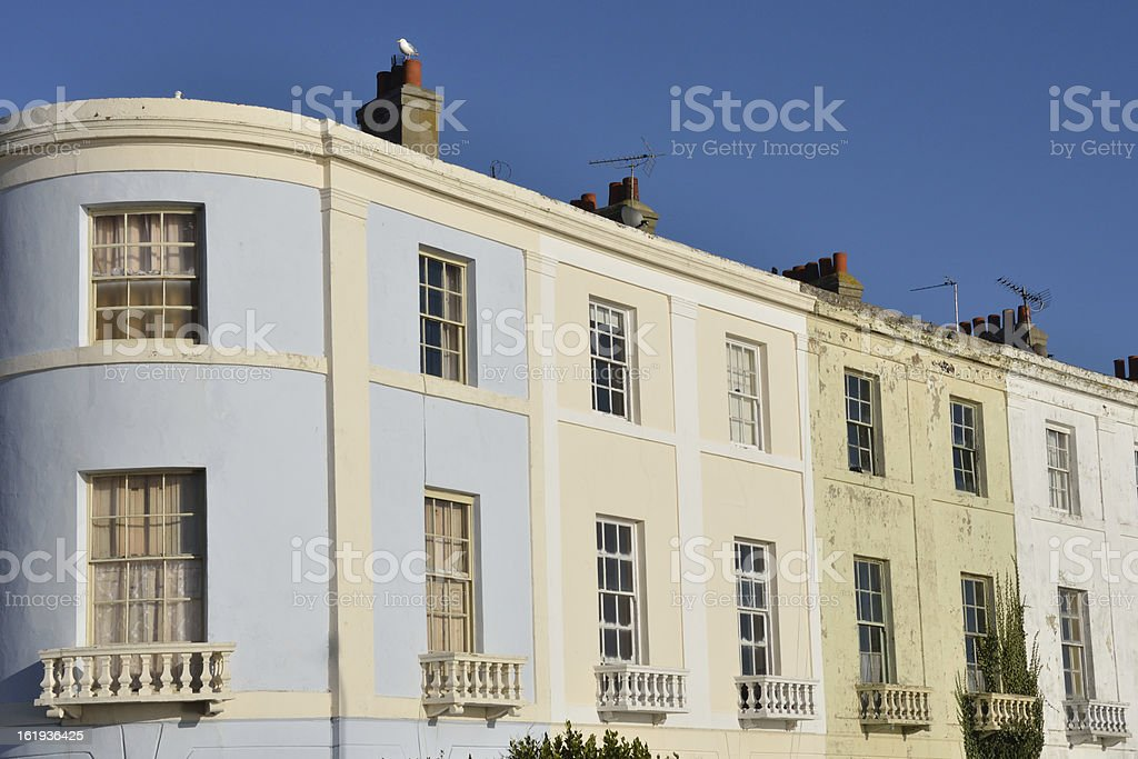 Rown of Town houses with curved end royalty-free stock photo