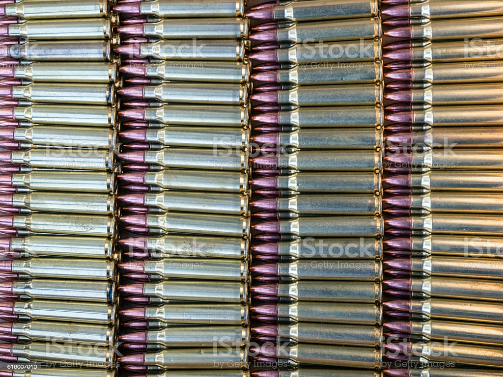 Rows of ammunition stock photo