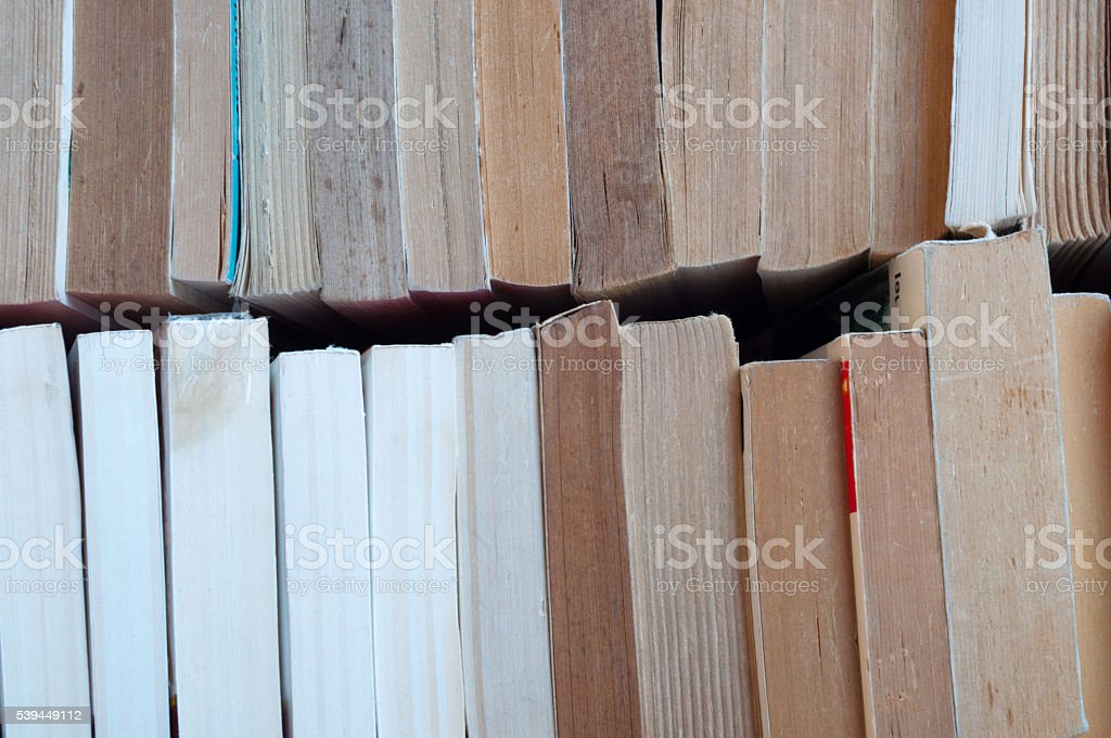 rows of books stock photo