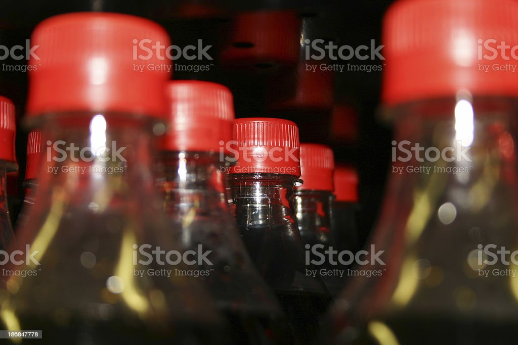 Rows of Bottles royalty-free stock photo