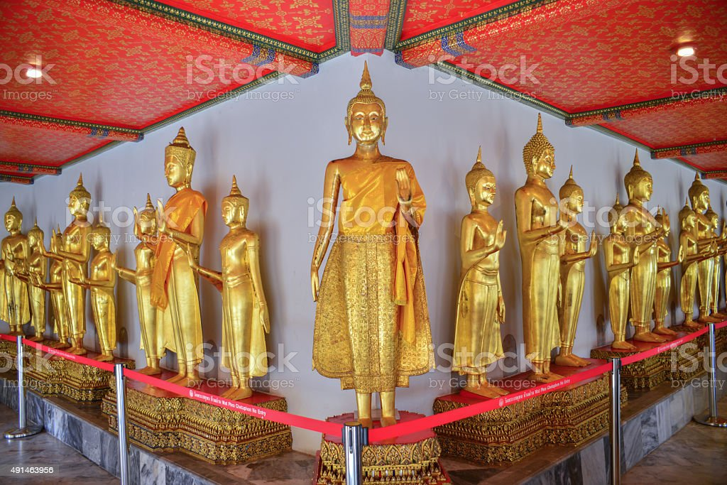 Rows of Buddha. stock photo