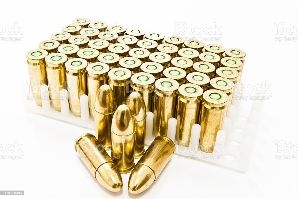 Rows of Bullets royalty-free stock photo