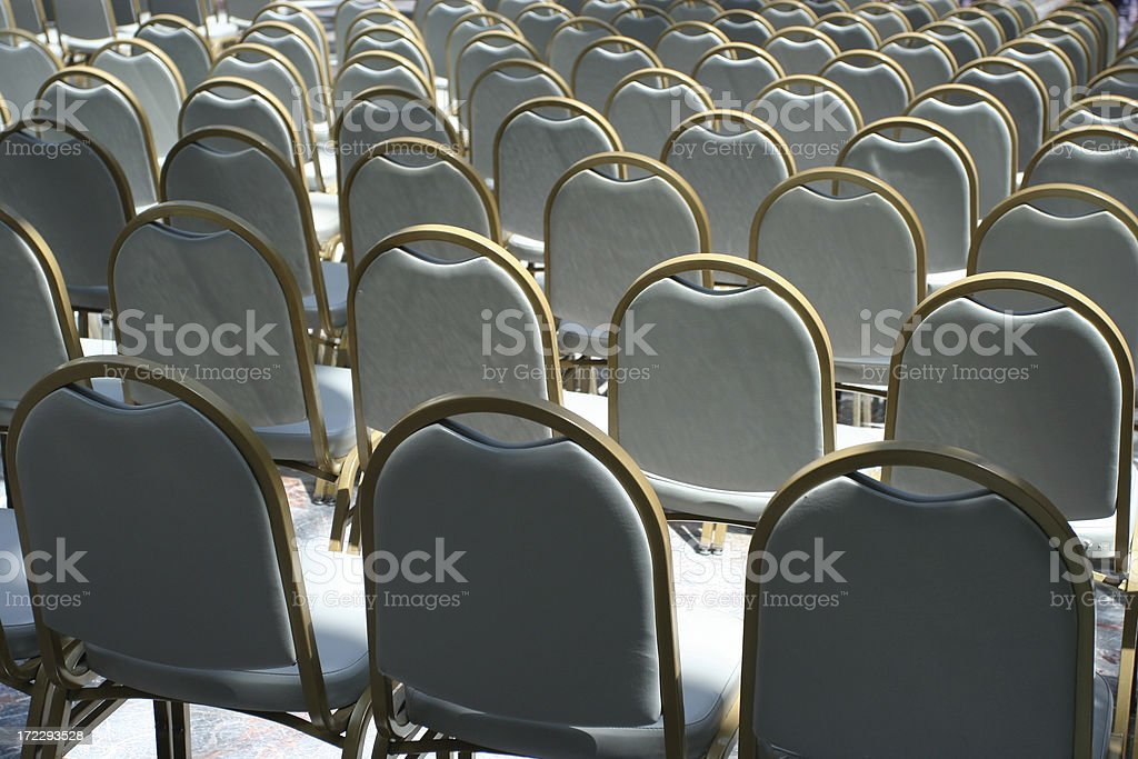 rows of chairs royalty-free stock photo