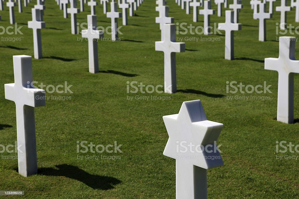 rows of crosses stock photo