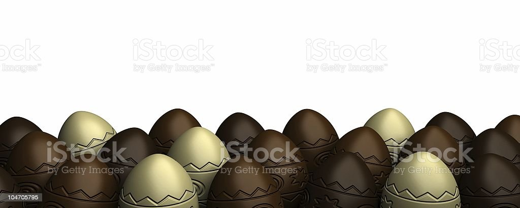 Rows of Easter eggs royalty-free stock photo