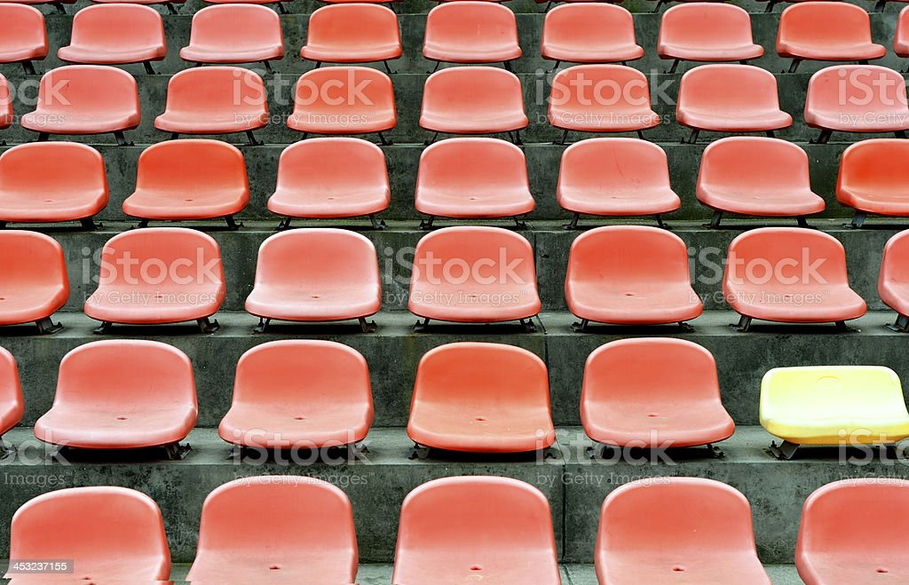 Rows of empty seats waiting for audience royalty-free stock photo