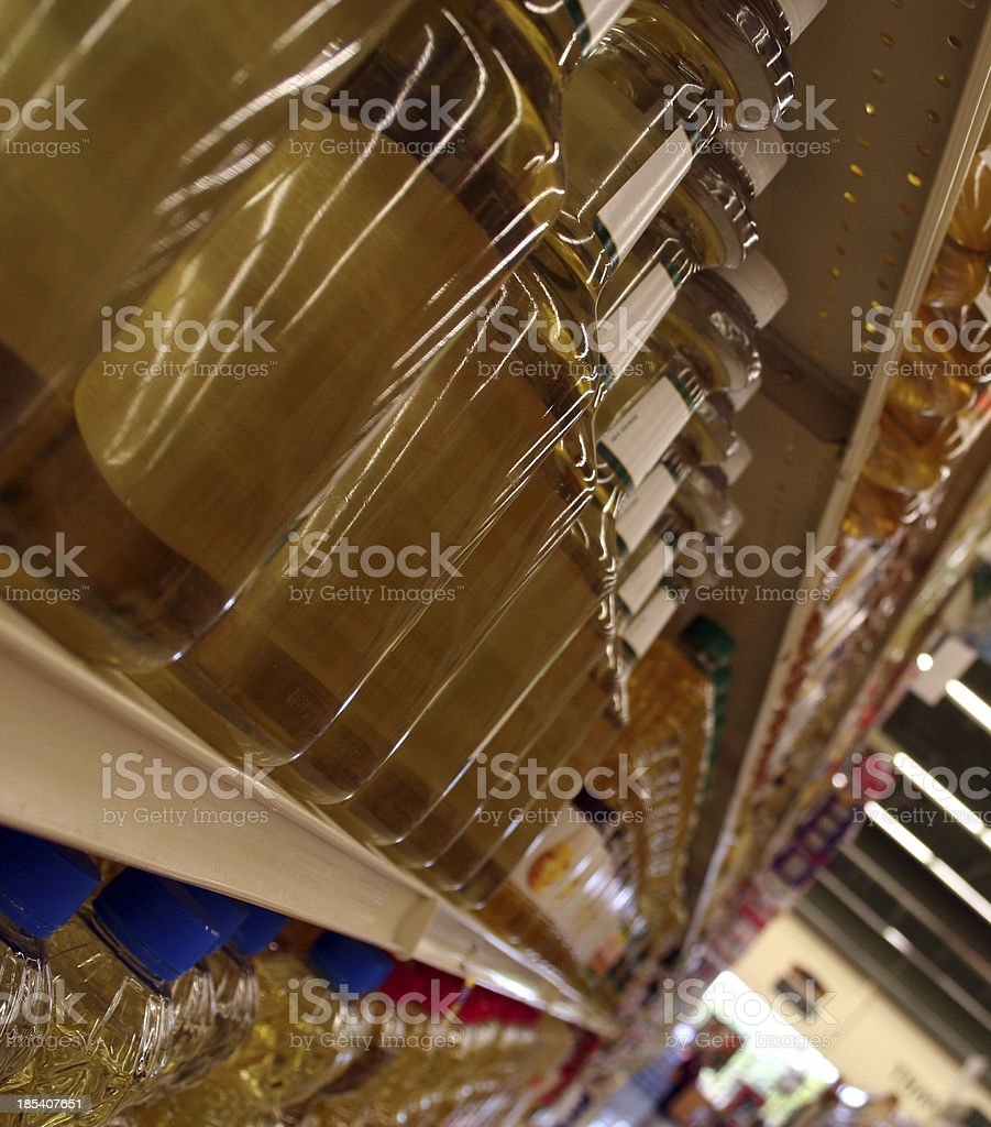 Rows of Food on a Grocery Store Aisle royalty-free stock photo