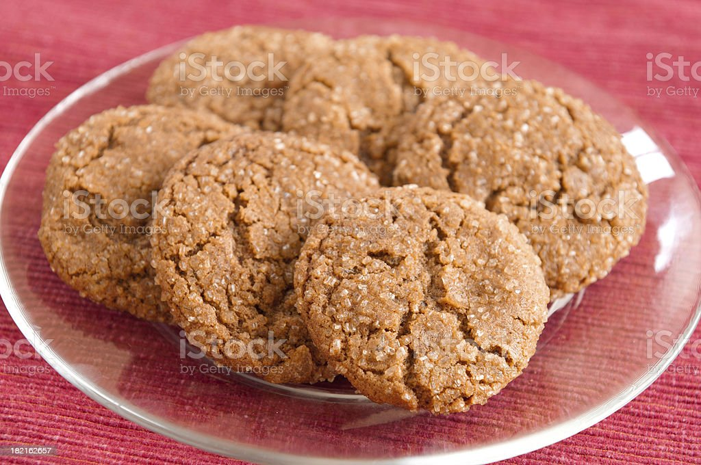 Rows of Gingersnaps royalty-free stock photo