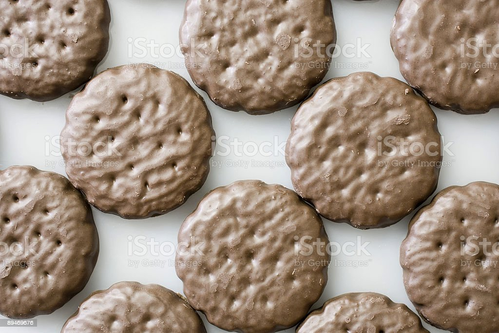Rows of Mint Cookies stock photo