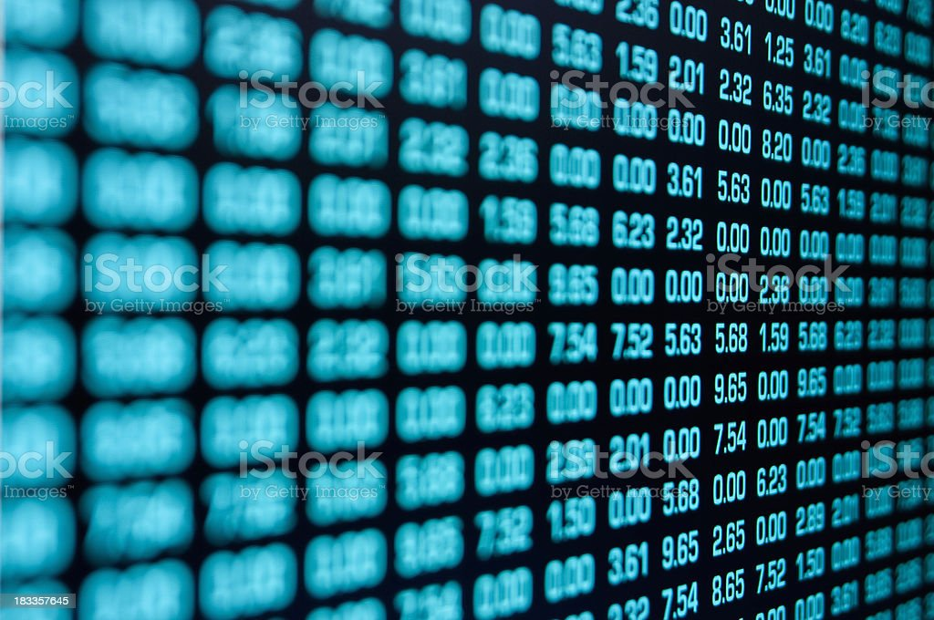 Rows of numbers form binary code on computer royalty-free stock photo