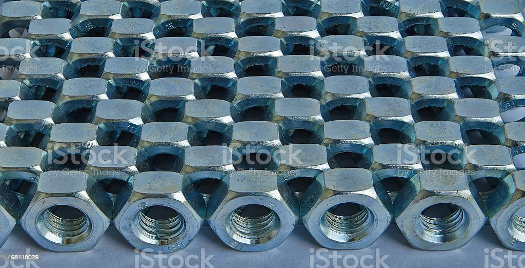 rows of nuts royalty-free stock photo