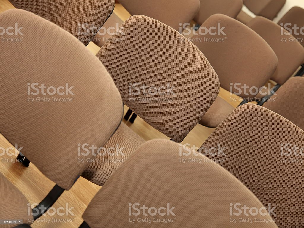 Rows of office chairs royalty-free stock photo