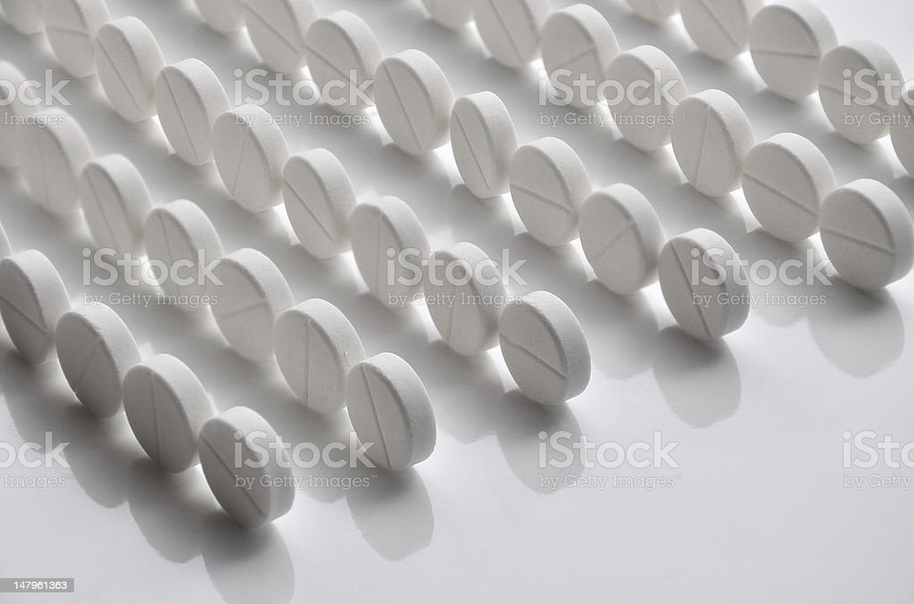 Rows of pills royalty-free stock vector art