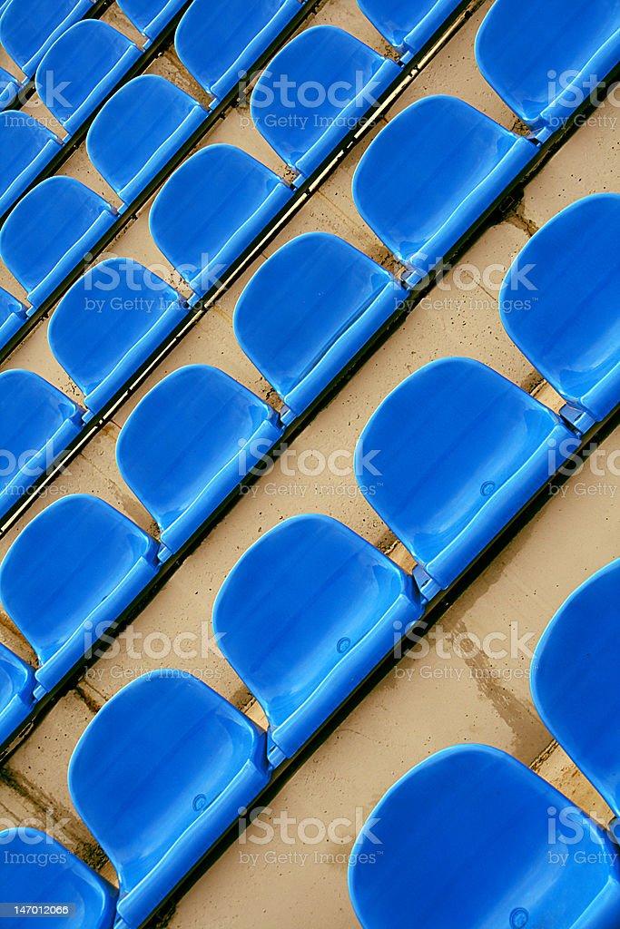 Rows of seats on the stadium stock photo