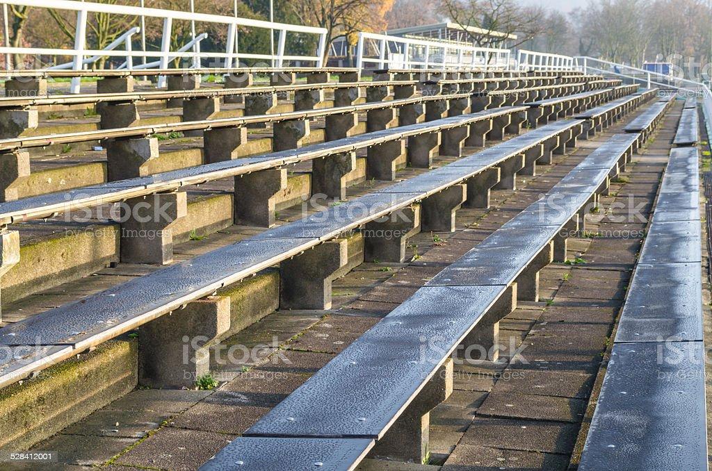 Rows of seats stock photo