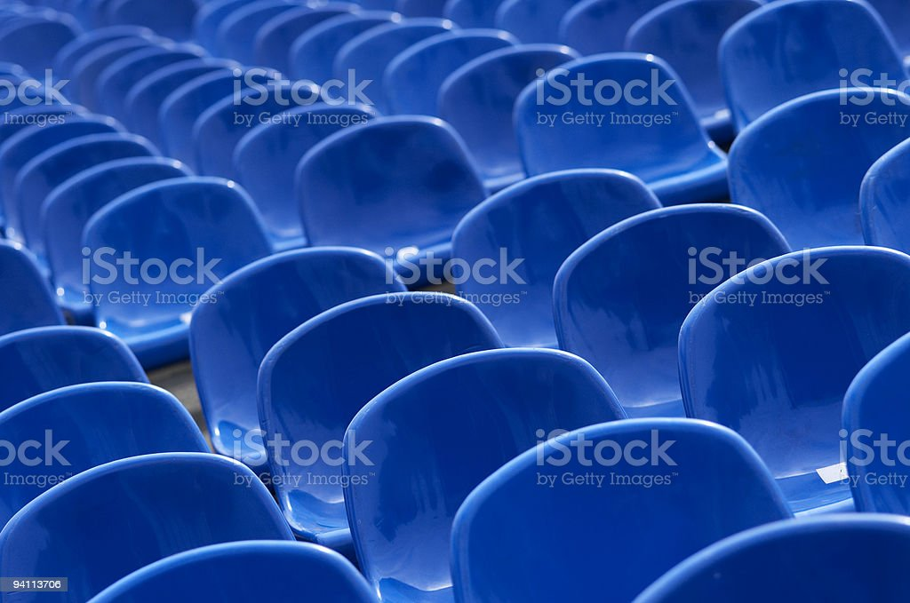 rows of seats royalty-free stock photo