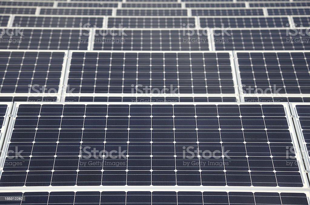 Rows of Solar Panels royalty-free stock photo