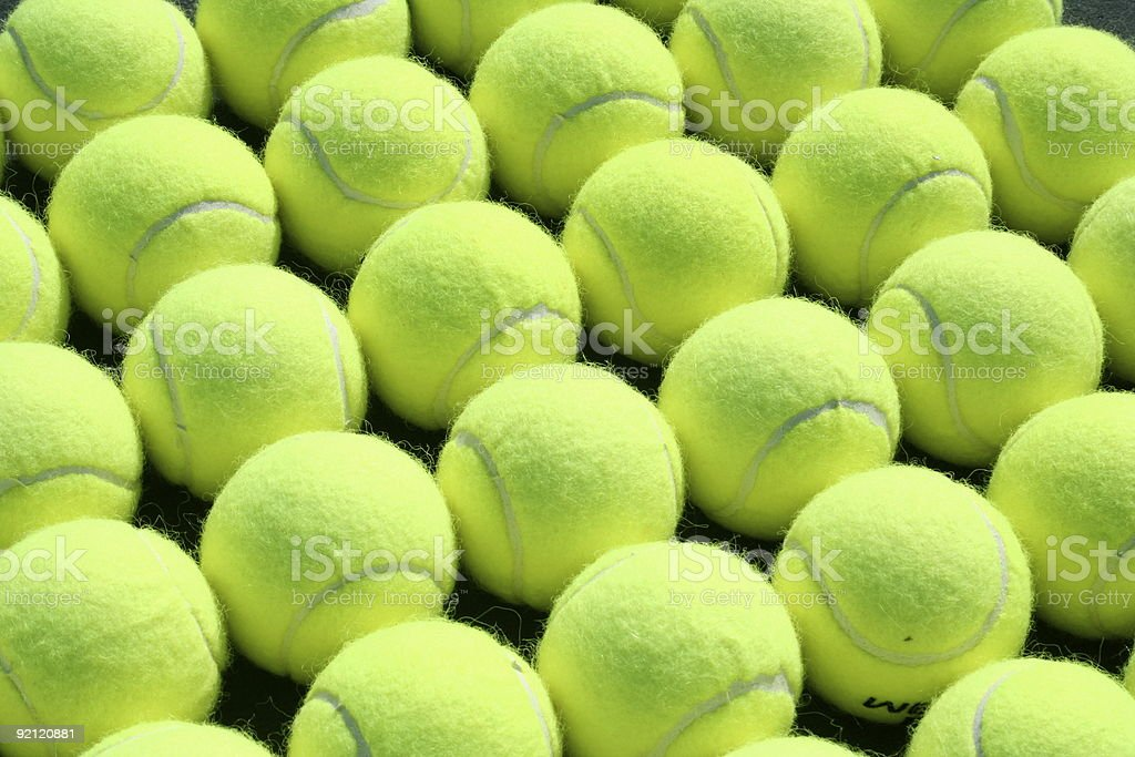 Rows of Tennis Balls for Sports background