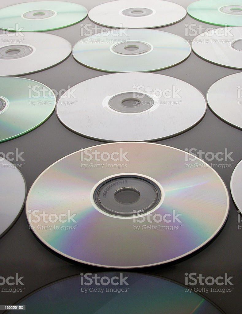 CD rows royalty-free stock photo