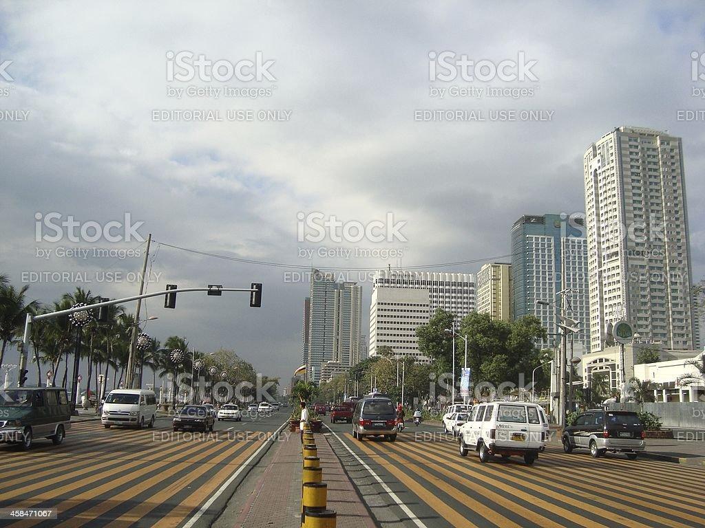 Roxas Boulevard, Manila Philippines stock photo