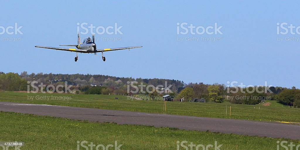 Royal Airforce cold war basic airtrainer aircraft - Chipmunk stock photo